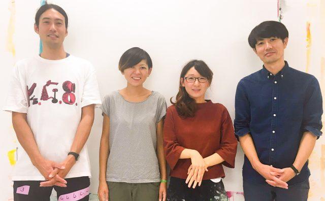 [左から]川田知志、Atsuko Nakamura、廣田真夕、古堅太郎