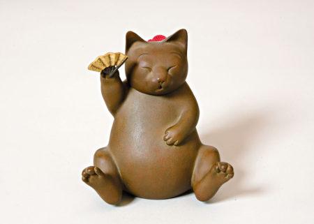 籔内佐斗司《福招き猫》2000年